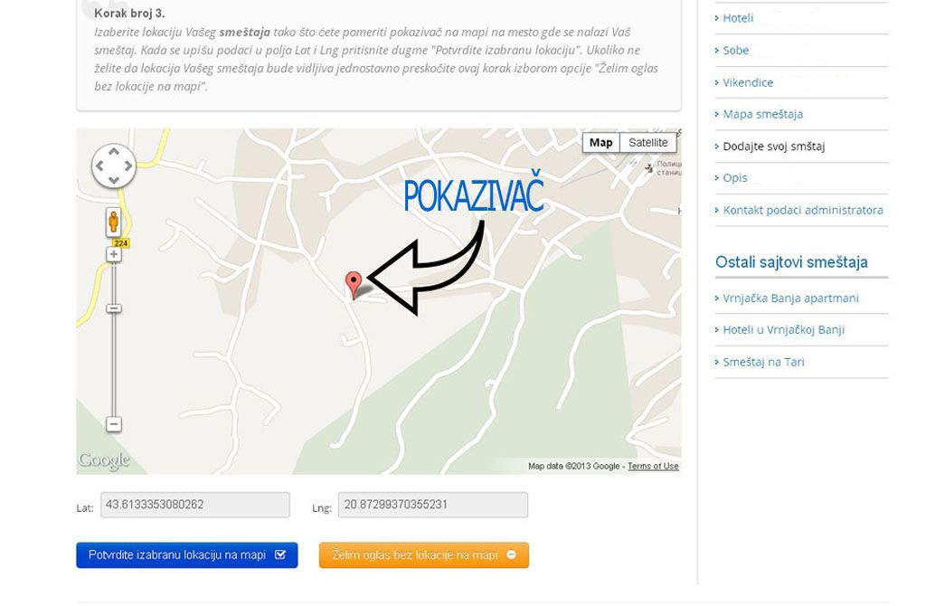 Zlatibor smeštaj  - postavljanje oglasa -  slika 3.